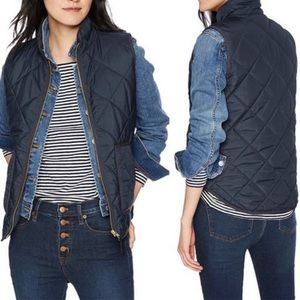 NWT Womens J. Crew Mercantile Quilted Black Vest L